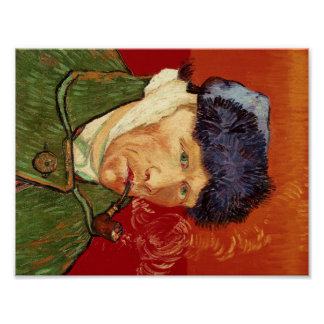 Van Gogh Self-portrait with Bandaged Ear and Pipe Poster
