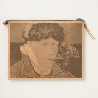 Van Gogh Self-portrait with Bandaged Ear and Pipe Travel Pouch