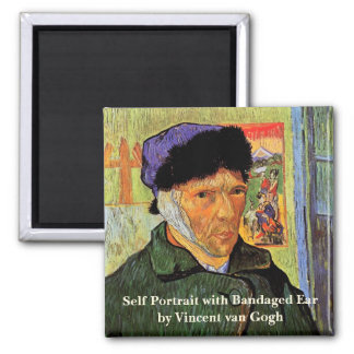 Van Gogh; Self Portrait with Bandaged Ear Magnet