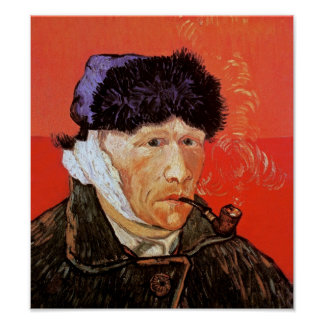 Van Gogh - Self-Portrait With Bandaged Ear & Pipe Poster