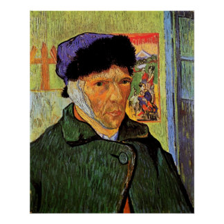 Van Gogh; Self Portrait with Bandaged Ear Poster