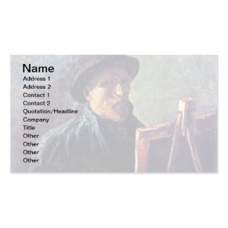 Van Gogh - Self Portrait With Dark Felt Hat Double-Sided Standard Business Cards (Pack Of 100)