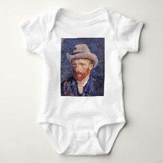 Van Gogh Self-Portrait with Felt Hat Baby Bodysuit