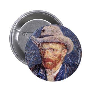 Van Gogh Self-Portrait with Felt Hat Pin