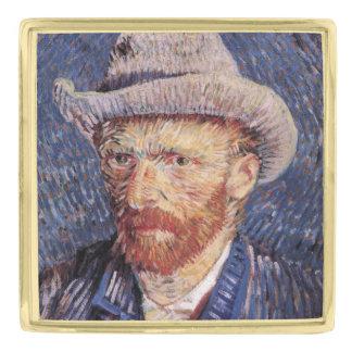 Van Gogh Self-Portrait with Felt Hat Gold Finish Lapel Pin