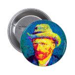 Van Gogh - Self Portrait With Grey Felt Hat Pin