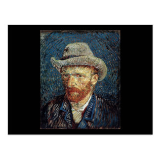 Van Gogh Self-Portrait with Grey Felt Hat Postcard