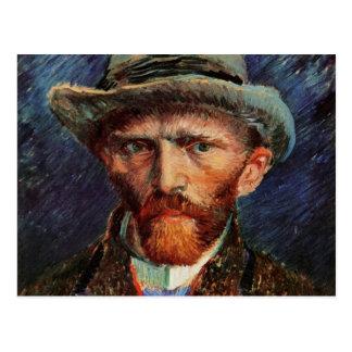 Van Gogh; Self Portrait with Grey Felt Hat Postcard