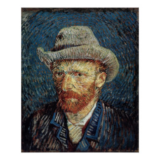 Van Gogh Self-Portrait with Grey Felt Hat Poster