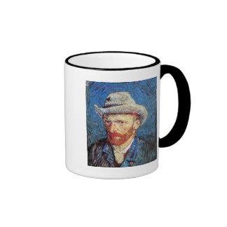 Van Gogh - Self Portrait With Grey Felt Hat Ringer Mug