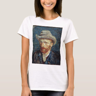 Van Gogh Self-Portrait with Grey Felt Hat T-Shirt