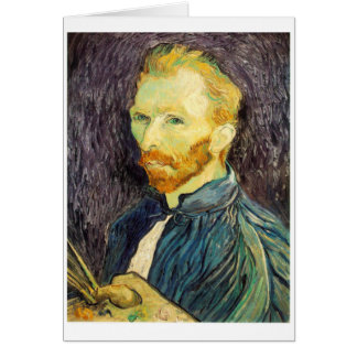 van Gogh - Self Portrait with Palette (1889) Card