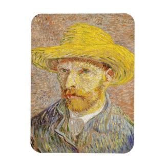 Van Gogh Self Portrait with Straw Hat Magnet