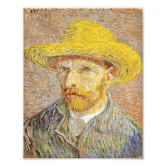 Van Gogh Self Portrait with Straw Hat Print Photo Art
