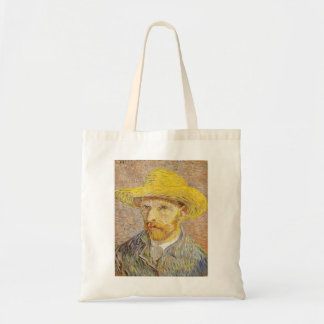 Van Gogh Self Portrait with Straw Hat Tote Bag