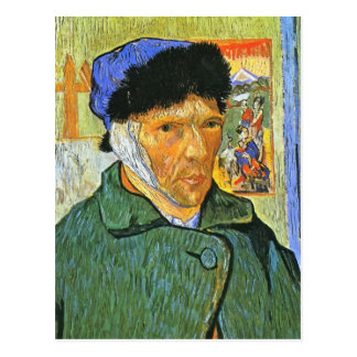 Van Gogh Self Post Card