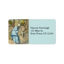 Van Gogh Sheep Shearer after Millet Label
