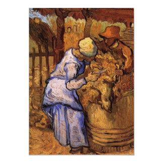 Van Gogh; Sheep Shearers, Vintage Impressionism Card