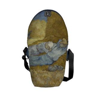 Van Gogh Siesta after Millet Courier Bag