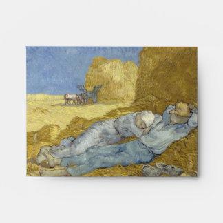 Van Gogh Siesta after Millet Envelope