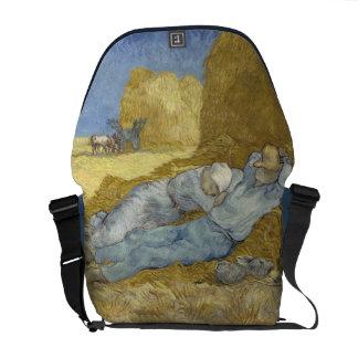 Van Gogh Siesta after Millet Messenger Bag