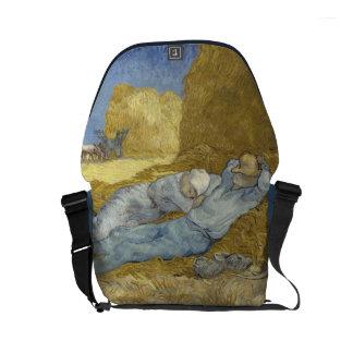 Van Gogh Siesta after Millet Small Messenger Bag