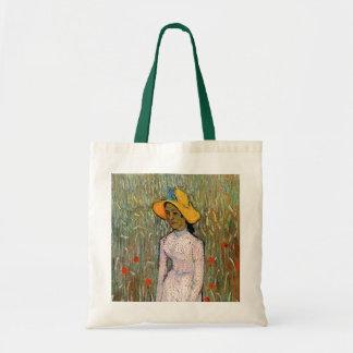 Van Gogh, situación de la chica joven; Fondo del Bolsa Tela Barata