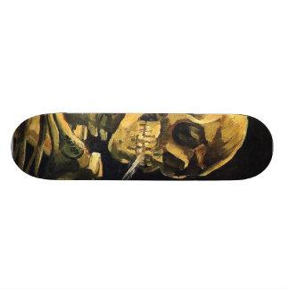 Van Gogh Skeleton Skateboard