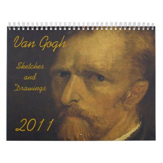 Van Gogh, Sketches and Drawings, 2011 Calendar