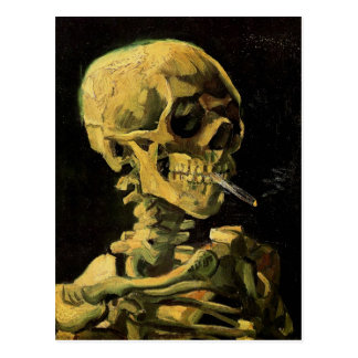 Van Gogh Skull, Burning Cigarette (F212) Fine Art Post Cards