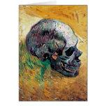 Van Gogh - Skull In Profile Greeting Card