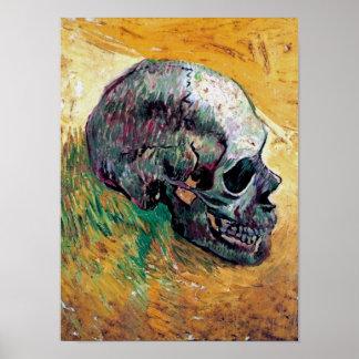 Van Gogh - Skull In Profile Poster