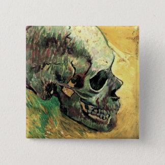 Van Gogh Skull Pinback Button