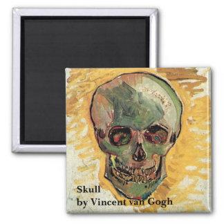 Van Gogh Skull Vintage Impressionism Still Life Magnets