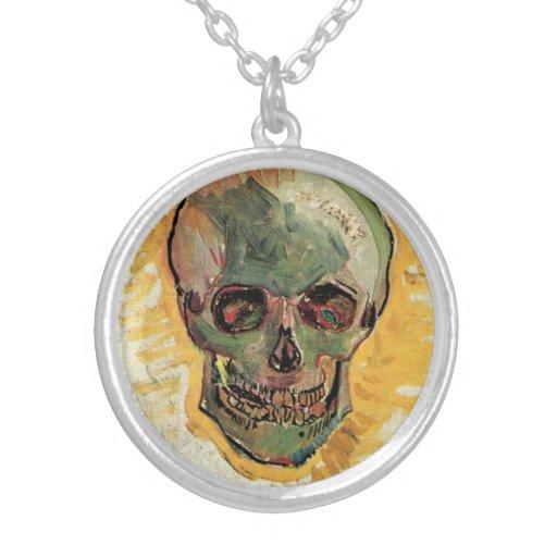 Van Gogh Skull, Vintage Impressionism Still Life Custom Necklace