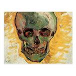 Van Gogh Skull, Vintage Impressionism Still Life Postcard