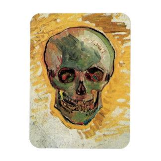 Van Gogh Skull Vintage Impressionism Still Life Rectangle Magnet