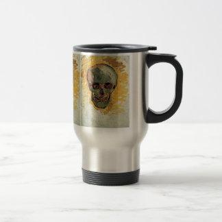 Van Gogh Skull, Vintage Still Life Impressionism 15 Oz Stainless Steel Travel Mug