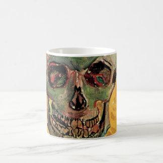 Van Gogh Skull, Vintage Still Life Impressionism Coffee Mug