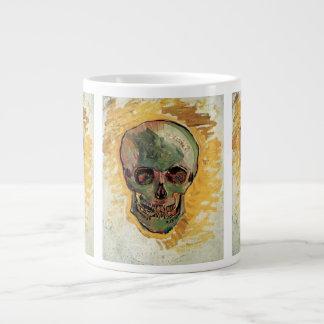 Van Gogh Skull, Vintage Still Life Impressionism Giant Coffee Mug