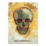 Van Gogh Skull, Vintage Still Life Impressionism 5x7 Paper Invitation Card