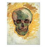 Van Gogh Skull, Vintage Still Life Impressionism 4.25x5.5 Paper Invitation Card