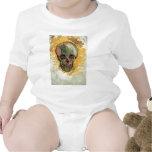 Van Gogh Skull, Vintage Still Life Impressionism Baby Creeper