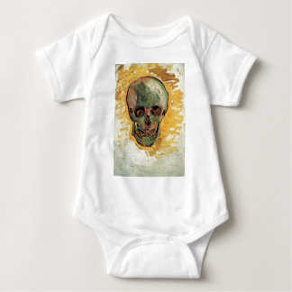 Van Gogh Skull, Vintage Still Life Impressionism Tee Shirts
