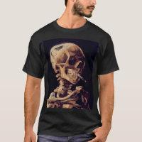 van gogh - skull with a burning cigarette T-Shirt