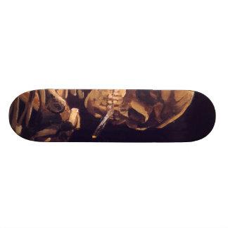 Van Gogh: Skull with Burning Cigaret Skateboard Deck