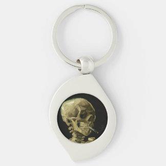 Van Gogh | Skull with Burning Cigarette | 1886 Keychain