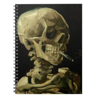 Van Gogh | Skull with Burning Cigarette | 1886 Notebook