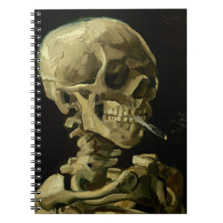 Van Gogh | Skull with Burning Cigarette | 1886 Spiral Notebook