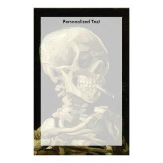 Van Gogh   Skull with Burning Cigarette   1886 Stationery